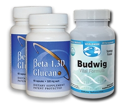 Beta 1, 3D Glucan & Budwig - 1 Month Supply (4 Caps)
