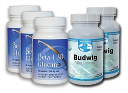 Beta 1, 3D Glucan & Budwig - 2 Month Supply (3 Caps)