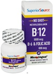No Shot Methylcobalamin B-12 5,000 mcg / B-6 / Folic Acid 800 mcg